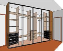 Рассмотрим классическую схему изготовления шкафов и гардеробных комнат из ЛДСП.